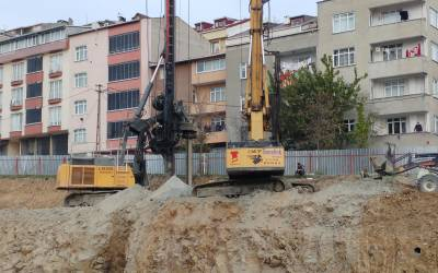 Bored Piling Project Sultangazi Istanbul